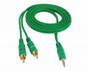 kabel Jack 3,5st-2RCA Digital dobry HQ zielony